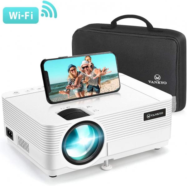 Videoproiector Vankyo  Leisure 470 Bass Edition, Wifi, 4000 Lumeni, LED, HDMI, AV, VGA, USB, SD,Conectare telefon, Telecomanda 0
