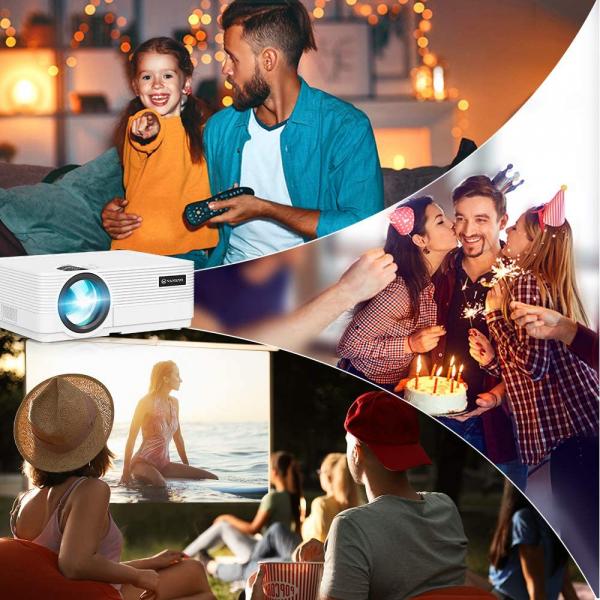 Videoproiector Vankyo  Leisure 470 Bass Edition, Wifi, 4000 Lumeni, LED, HDMI, AV, VGA, USB, SD,Conectare telefon, Telecomanda 4