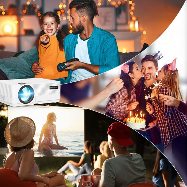 Videoproiector Vankyo  Leisure 470 Bass Edition, Wifi, 4000 Lumeni, LED, HDMI, AV, VGA, USB, SD,Conectare telefon, Telecomanda - Resigilat [4]