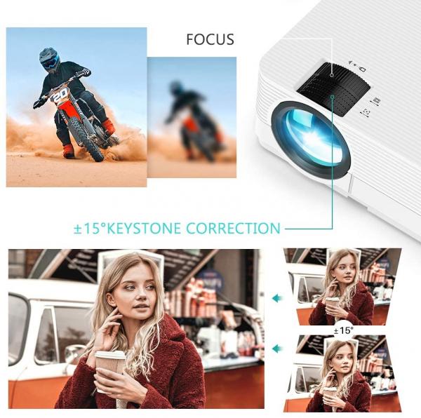 Videoproiector Vankyo  Leisure 470 Bass Edition, Wifi, 4000 Lumeni, LED, HDMI, AV, VGA, USB, SD,Conectare telefon, Telecomanda 1