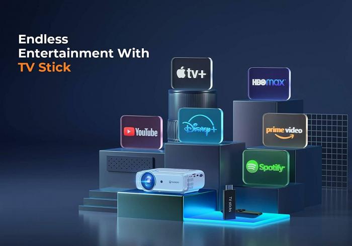 Videoproiector Vankyo  Leisure 430W, BassEdition, 4000 Lumeni, LED, HDMI, SD, AV, VGA, USB, Telecomanda, Cablu HDMI [9]