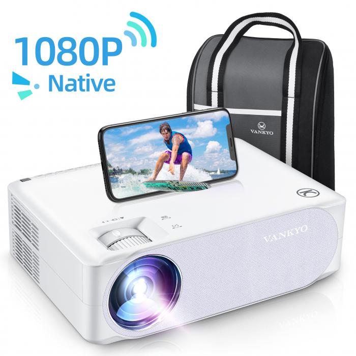Videoproiector VANKYO Performance V630W, 6000 Lumeni,Wifi,  Native 1080p, LED, HDMI, VGA, AV, USB, Geanta de transport, Telecomanda, Cablu HDMI [0]