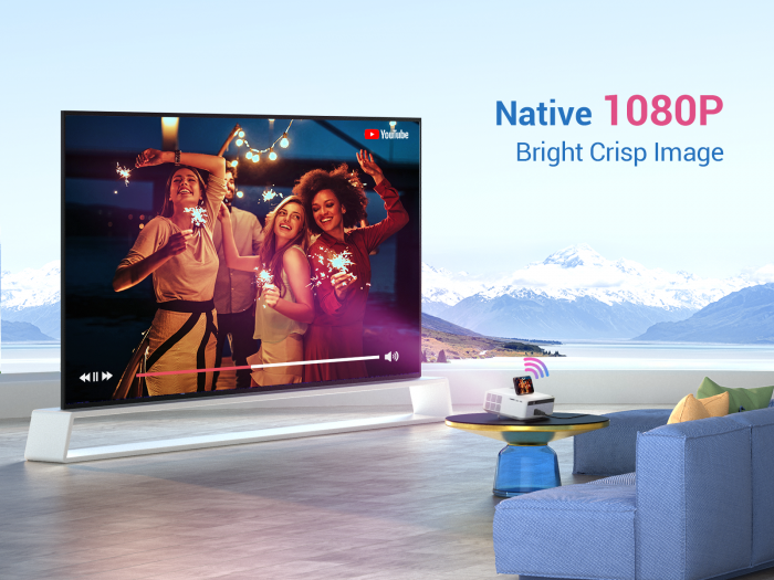 Videoproiector VANKYO Performance V630W, 6000 Lumeni,Wifi,  Native 1080p, LED, HDMI, VGA, AV, USB, Geanta de transport, Telecomanda, Cablu HDMI [1]