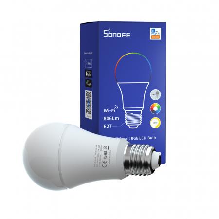 Bec Smart cu LED Sonoff B05-B-A60, RGB, Putere 9W, 806 LM, Control aplicatie [1]