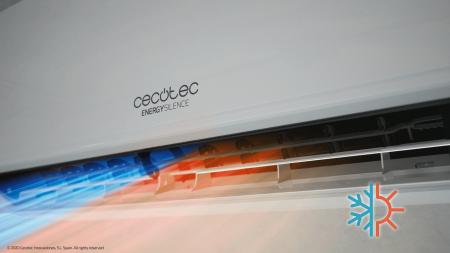 Aer conditionat Cecotec EnergySilence12000 AirClima Connected, 12000 BTU, Wifi, A++, 25 m2, Control dinTelefon, Incalzire, Dezumidificare, 5 moduri si 3 optiuni de operare cu 8 viteze [2]