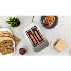Prajitor de paine Cecotec YummyToast Double, 850 W, Inox, Indicator cu luminare LED [6]
