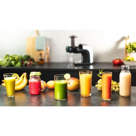 Storcator Cecotec Juice&Live 2000 EasyClean cu sisitem de presare la rece, tambur dublu de separare a sucului, silentios, 3 viteze, negru - Resigilat [1]