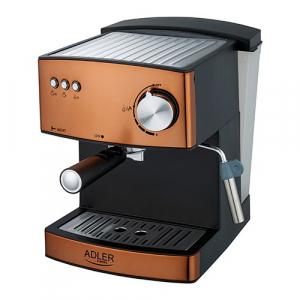 Espressor profesional ADLER AD 4404, 850W, 15 bar, 1.6l, Aramiu [0]