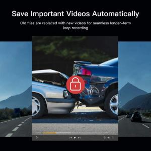 Camera auto DVR  Dubla Apeman C420D, Full HD,  Bord si Spate, Unghi 170 grade, Detector miscare, G-Sensor, Mod parcare, Filmare in bucla [6]