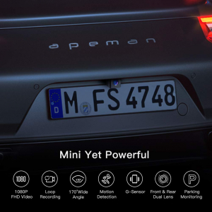 Camera auto DVR  Dubla Apeman C420D, Full HD,  Bord si Spate, Unghi 170 grade, Detector miscare, G-Sensor, Mod parcare, Filmare in bucla [7]