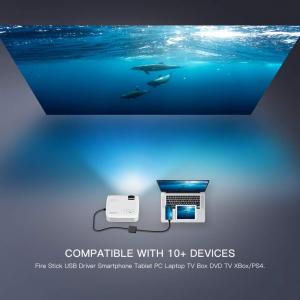 Videoproiector Apeman LC350, 3500 Lumeni, LED, HDMI, VGA, AV, USB, microSD4