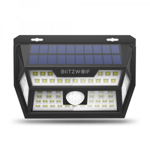 Lampa solara BlitzWolf BW-OLT1, LED, 62 leduri, incarcare solara si senzor de miscare1