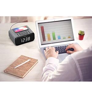 Ceas cu Radio FM VAVA 5 in 1, Boxa Bluetooth, Incarcator Wifi [3]