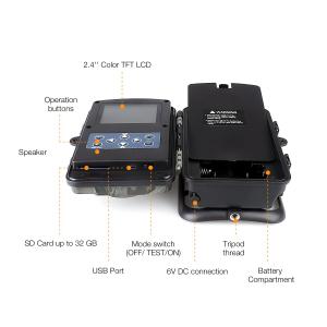 """Camera de vanatoare Apeman H45 senzor de miscare , 16 MP, full HD, 2.4"""" LCD , 940nm, night vision , 26 senzori infrarosu [2]"""