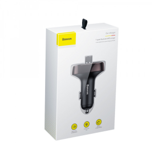 Modulator FM Baseus FM T-Type Bluetooth MP3 incarcator masina [6]