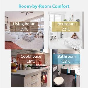 Cap termostatic calorifer Meross MTS100 Smart, Alexa, Google Home, control smartphone [3]