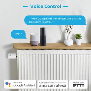 Kit Cap termostatic calorifer Meross MTS100H cu Hub, Smart, Alexa, Google Home, control smartphone9