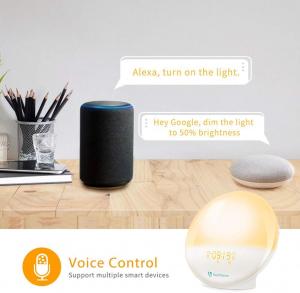 Radio cu ceas Smart Wifi HeimVision, simulare rasarit, control din smartphone, lampa de veghe cu 7 culori, 20 de intensitati a luminii, incarcare USB, Alexa [4]