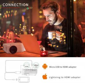 Mini Videoproiector Vankyo  Leisure 3, 3600 Lumeni, LED, HDMI, SD, AV, VGA, USB, Geanta de transport, Telecomanda, Cablu HDMI [3]