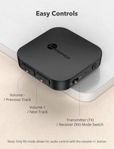 Adaptor Bluetooth Transmitator si Receptor Audio 2 in 1 TaoTronics TT-BA08, Bluetooth 5.0, conectare 2 casti simultan5