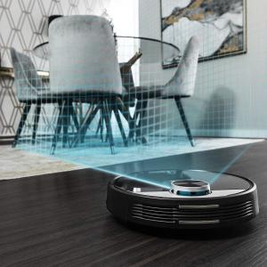Robot de aspirare Cecotec Conga 3390, 4 in 1, 2300 Pa, Laser, Autonomie 150 minute, Rezervor lichide si praf, Functie mop, 2 perii centrale3