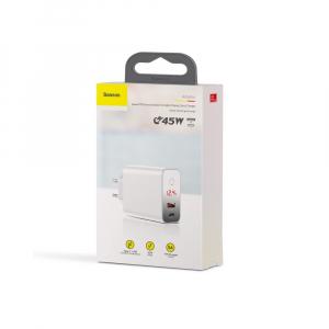 Baseus Incarcatorperete PPS QC USB + PD 45W - Alb6