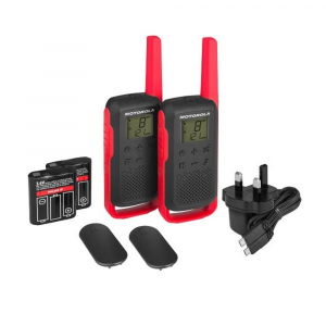 Statie radio PMR portabila Motorola TALKABOUT T62 RED, set cu 2 buc1