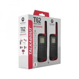 Statie radio PMR portabila Motorola TALKABOUT T62 RED, set cu 2 buc3