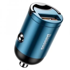 Incarcator Auto Baseus, Tiny Star Mini, Quick Charge 3.0, Albastru0