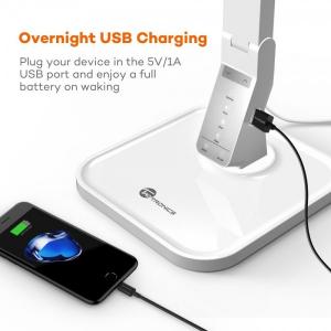 Lampa de birou LED TaoTronics TT DL02 control Touch, 4 moduri, 14W, USB - Alba1