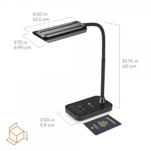 Lampa de birou LED TaoTronics TT-DL11 control Touch, 5 moduri, protectie ochi, 7W1
