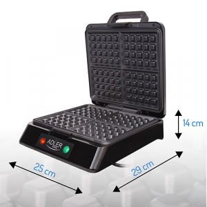 Aparat de preparat waffle/ vafe ADLER AD 3036,1500 wati,inox [1]