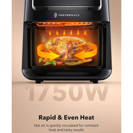 Friteuza cu aer cald, fara ulei TaoTronics TT-AF001 Air Fryer, 1750W, 6L, Control tactil, 11 Programe Presetate [3]