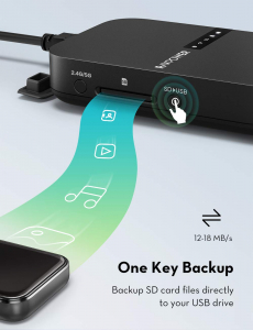 Router Wireless Portabil - Filehub RavPower RP-WD009 5 in 1, Cititor Carduri, Travel Router Backup, Baterie Externa 6700mAh2