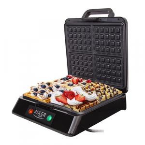 Aparat de preparat waffle/ vafe ADLER AD 3036,1500 wati,inox [2]