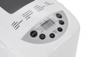 Masina de paine ADLER AD 6019,gluten free, 2 palete framantare, 1100 W, 1250 g, 12 Programe, afisaj LCD, Alb [2]