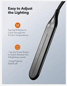 Lampa de podea LED TaoTronics TT-DL072, ajustabile 4 culori de culoare, 4 niveluri de luminozitate [1]