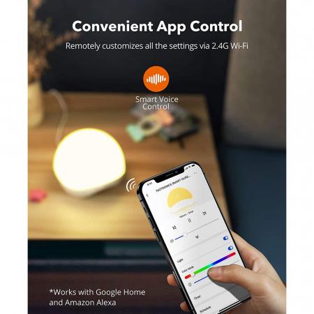 Lampa de veghe Smart TaoTronics TT-CL023, RGB, control din telefon, 25 de sunete, control Alexa si Google [4]