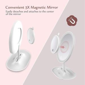 Oglinda cosmetica Anjou iluminata LED, control Touch, Marire 5X acumulator reincarcabil4
