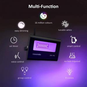 Set 2 proiectoare de podea LED RGB Novostella, Smart, Wifi, Alexa,Google , 20W, Exterior IP66 waterproof [8]