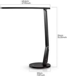 Lampa de birou cu LED TaoTronics TT-DL10, incarcare USB, 4 culori de lumina, 600 lumeni6