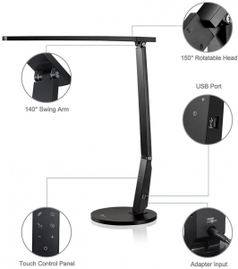 Lampa de birou cu LED TaoTronics TT-DL10, incarcare USB, 4 culori de lumina, 600 lumeni [2]