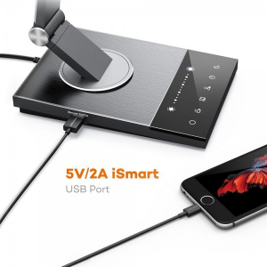 Lampa de birou LED TaoTronics TT-DL063, protectie ochi, control touch, 5 moduri, USB, lumina de noapte [5]