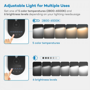 Lampa de birou LED TaoTronics TT-DL31, protectie ochi, control touch, Incarcare Telefon Wireles si USB - Resigilat5