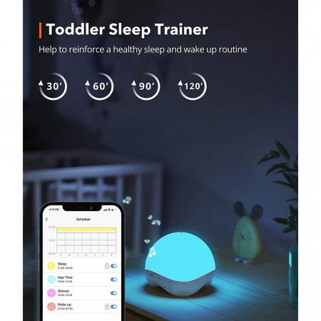 Lampa de veghe Smart TaoTronics TT-CL023, RGB, control din telefon, 25 de sunete, control Alexa si Google [5]