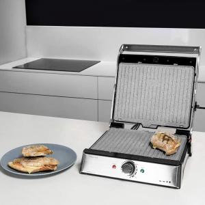 Gratar electric Cecotec 3 in 1 Rock'n Grill Pro , 2000 W, regulator de putere, piatra antiaderenta, gratar electric, plita si aparat de facut sandvisuri [1]