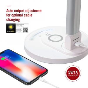 Lampa LED de birou TaoTronics TT-DL043, cu incarcator wireless, control touch, USB, 12W, 410 lm [5]