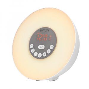 Ceas cu Radio FM VAVA Lampa de Veghe 7 culori LED, alarma , Meniu Touch [0]