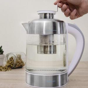 Fierbator cu filtru de ceai  2 in 1 Cecotec ThermoSense 370 Clear, 2200 W, 1.7L, Inox, oprire automata [3]
