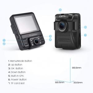 Camera auto DVR Dubla Crosstour CR750, GPS, Full HD,  Bord si Interior, Unghi 170 grade, Night Vision, WDR, G-Sensor, Mod parcare, Filmare in bucla [2]